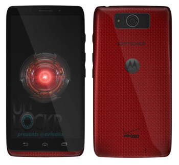 Motorola DROID Ultra for Verizon spotted wearing red