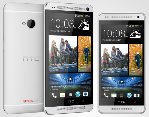 HTC One (left) vs HTC One mini (right)