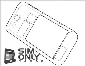 The back of the upcoming Galaxy Note 3