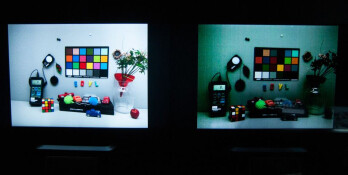 Clarity+ (left) vs Bayer (right) in low-light