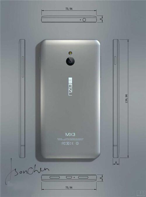 Meizu MX3 -- Back