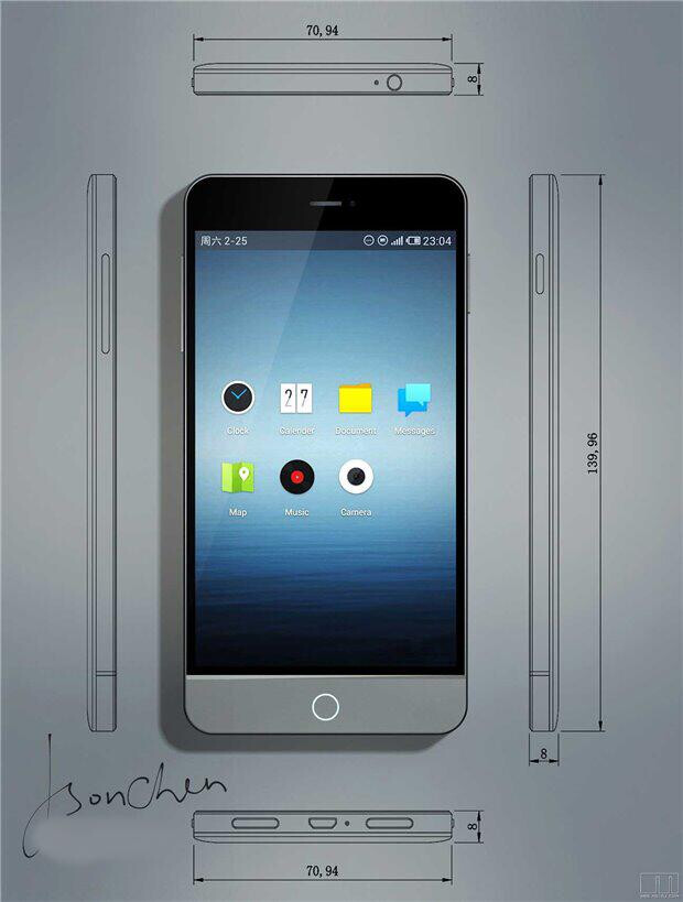 Meizu Mx3 Actual Images Leak Beauty And Performance In One