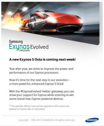 An evolved Samsung Exynos 5 will be introduced next week by Samsung
