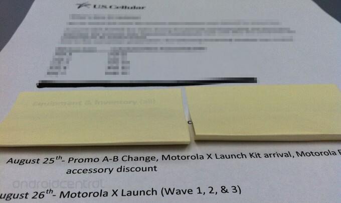 Leaked memo puts Motorola Moto X release on August 26th for U.S. Cellular