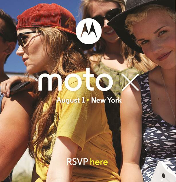 """Motorola Moto X announcement set for August 1st with """"No Stage. No Crowds."""""""