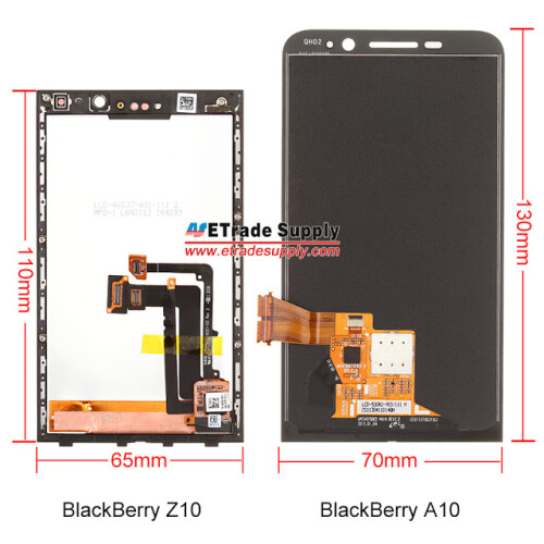 BlackBerry A10 compared with BlackBerry Z10
