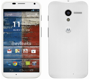 The Motorola Moto X in white