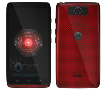 Red Motorola DROID Ultra, image courtesy of UnLockr and @evleaks