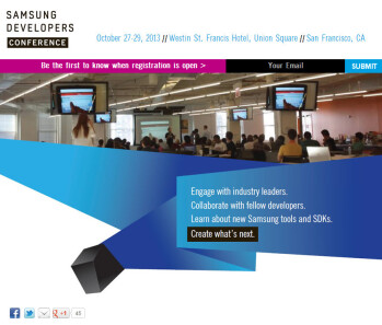 In your face: Samsung schedules its first private developer conference October 27-29 in San Fran