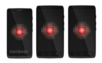 The new DROID family, from left to rig - Motorola DROID Mini, Ultra, MAXX
