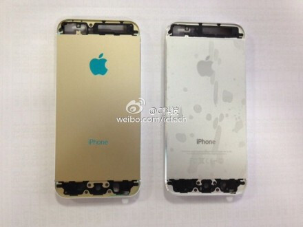 The back of the gold and white iPhone 5S