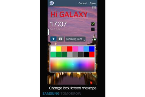 Change lock screen message