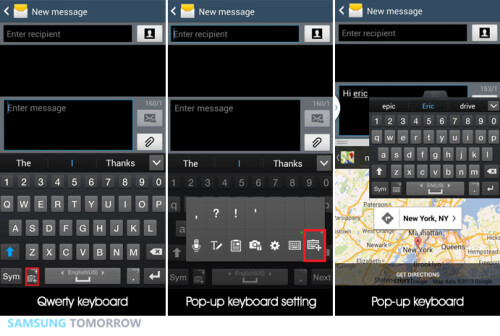Multitasking with pop-up keyboard