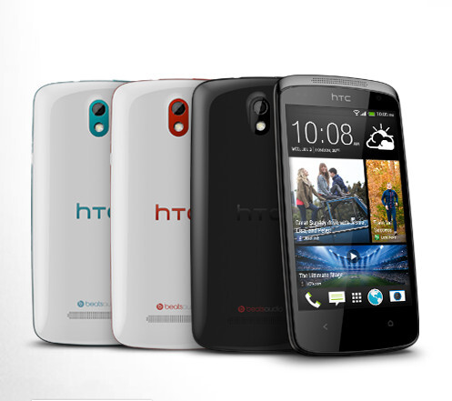The HTC Desire 500, a mid-range Android smartphone