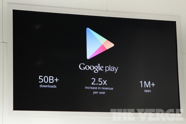 Image courtesy of The Verge. - Android's Google Play beats App Store with over 1 million apps, now officially largest