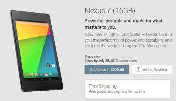 Google is now taking orders for the new Nexus 7