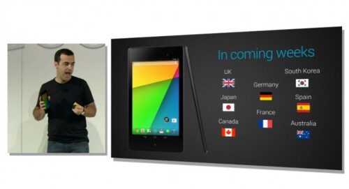 Google puts up pre-notifications sites globally for the new Google Nexus 7