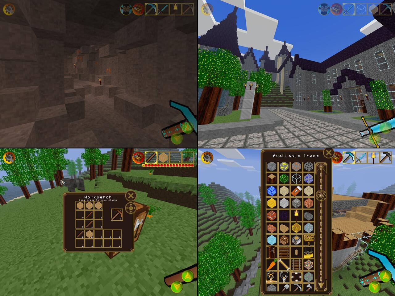 First Person Sandbox Castle Builder Game