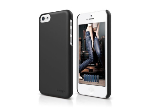Slim fit case for the budget iPhone 5C poses for a shot on Amazon