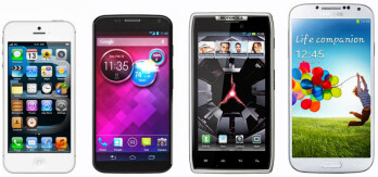 Moto X sized up with iPhone 5, Droid RAZR and Galaxy S4, looking compact