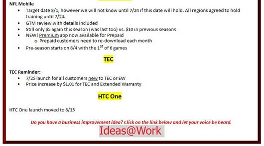 Verizon HTC One delayed until August 15th?