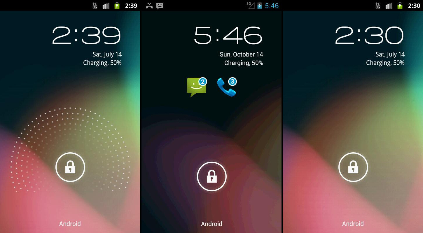 10 lock screen replacement apps for your android smartphone. Black Bedroom Furniture Sets. Home Design Ideas