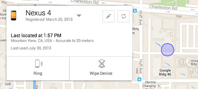 Android Device Manager will help you locate your lost or stolen Android phone - Android Device Manager helps you find your lost Android phone and remotely wipe data
