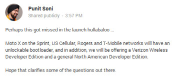 Motorola's Soni explains the bootloader situation on the Moto X