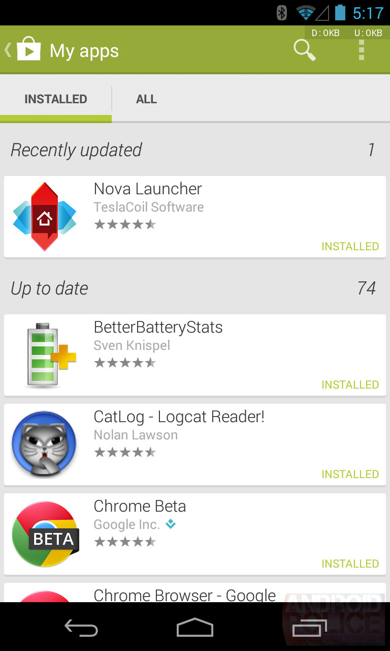 google play app new version