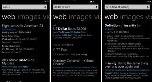 Bing update for Windows Phone 8