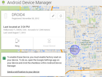 The Android Device Manager website can help you track your lost or stolen handset