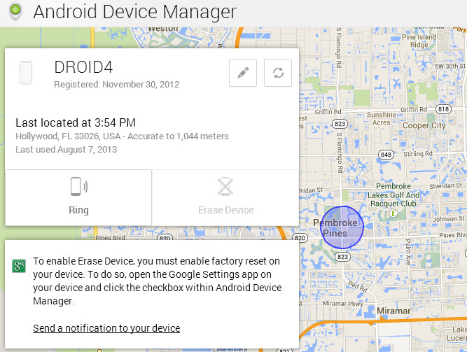 The Android Device Manager website can help you track your lost or stolen handset - Android Device Manager now active, ready to help you find your lost or stolen phone