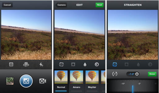 Those Instagram users with an iOS device can straighten out and level their pictures with one tap - Instagram update allows users to import video