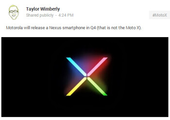 Speculation is that Motorola will produce the next Google Nexus handset