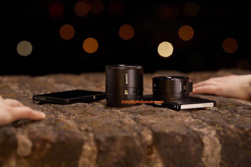 Sony's interchangeable lens for Android and iOS devices