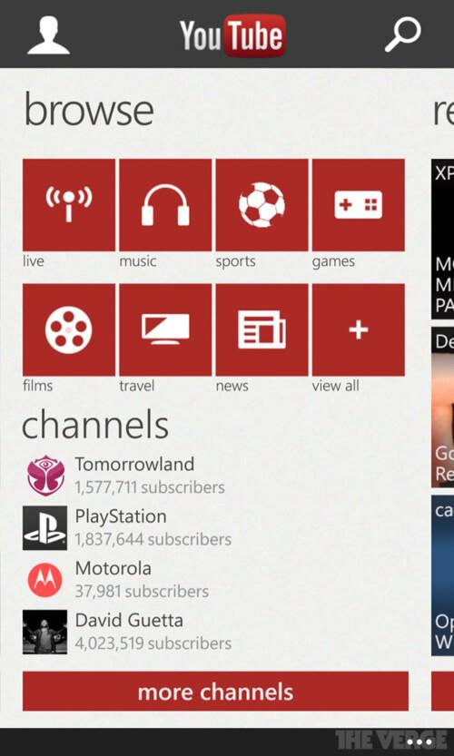 Windows Phone gets a new YouTube app