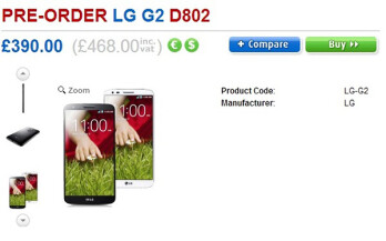 LG G2 early pre-orders kick off in UK, mass availability in late-September