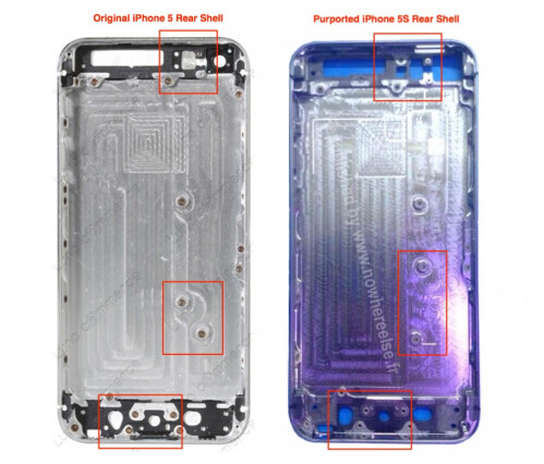 Apple iPhone 5S new images appear, compare it with current iPhone 5