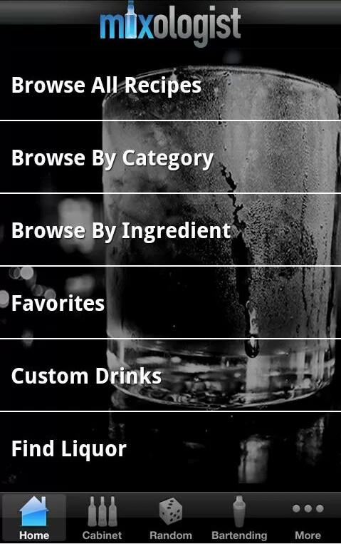 Mixologist ($1.49 on Android, $0.99 on iOS)