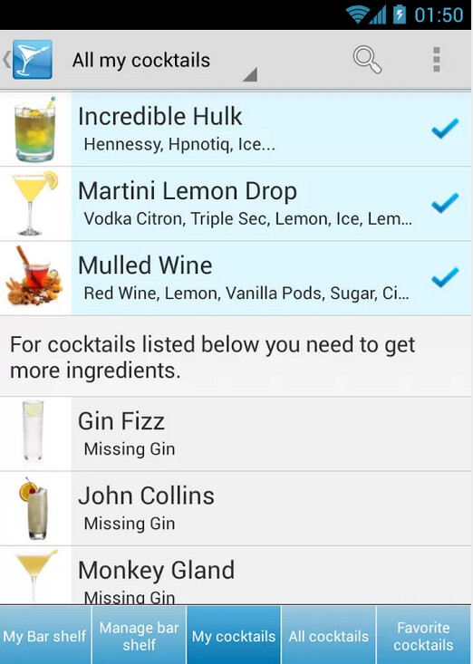 My Cocktail Bar Drink Recipes