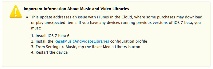 Apple released iOS7 beta 6 to fix a problem with iTunes - Apple iOS 7 beta 6 released to repair iTunes bug