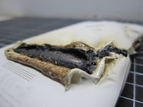 HTC One X catches fire while charging