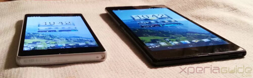 See how Sony Xperia Z Ultra's Triluminos display stacks up against the one on the Sony Xperia Z