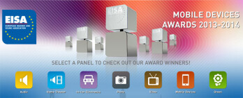 Samsung won three EISA awards for 2013-2014, the most of any handset manufacturer