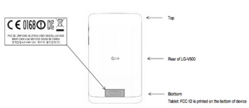The LG G Pad visited the FCC