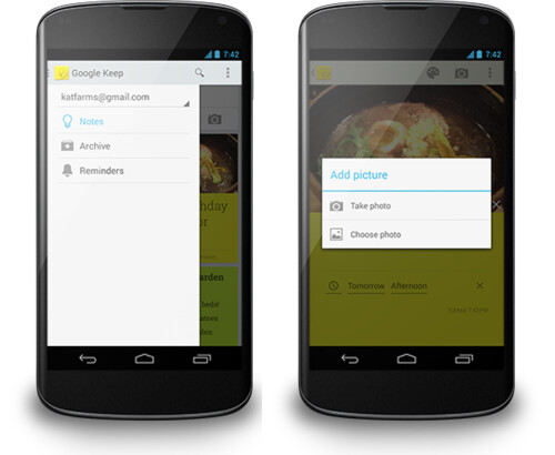 Google Keep gets time and location reminders like Google Now