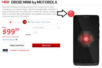 The Motorola DROID Mini will now ship on Thursday