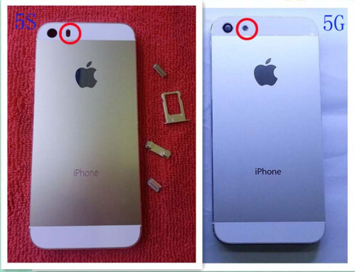 The iPhone 5S' dual LED flash compared with the iPhone 5