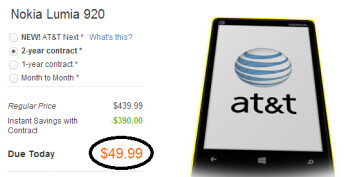 The Nokia Lumia 920 is now $99 at AT&T