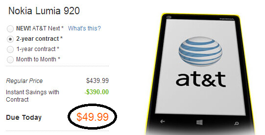 The Nokia Lumia 920 is now $99 at AT&T - AT&T to launch the Nokia Lumia 925 next month?